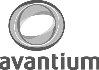 298 001 003 WT Avantium logo zw embrodery